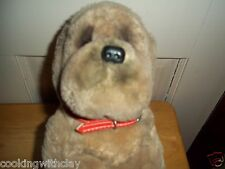 RARE VINTAGE REMCO PLUSH DOLL FIGURE BROWN RED COLLARED PUPPY DOG TOY