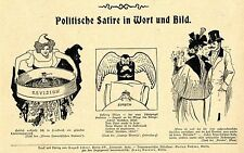 Histor.politische Satire Frankreich im Läuterungsprozeß Dreyfus- Affäre ...1899