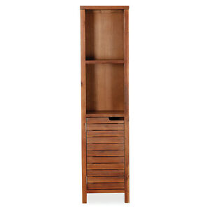 Phenomenal Details About Victoria Acacia Tall Bathroom Cabinet Solid Dark Wood Fully Assembled New Download Free Architecture Designs Scobabritishbridgeorg