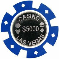 Trademark Poker Coin Inlay ($5000) Casino Las Vegas Poker Chips (quantity: 25).