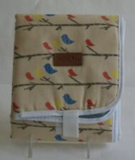 Organic Cotton Baby Change Mat Birds
