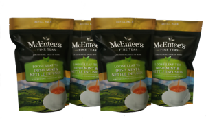McEntee's Irish MINT & NETTLE INFUSION - 4 x  75g Bag - BLENDED IN IRELAND