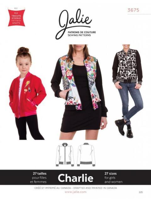 Jalie Charlie Bomber Jacket Coat Girls Women Sewing Pattern 3675   eBay