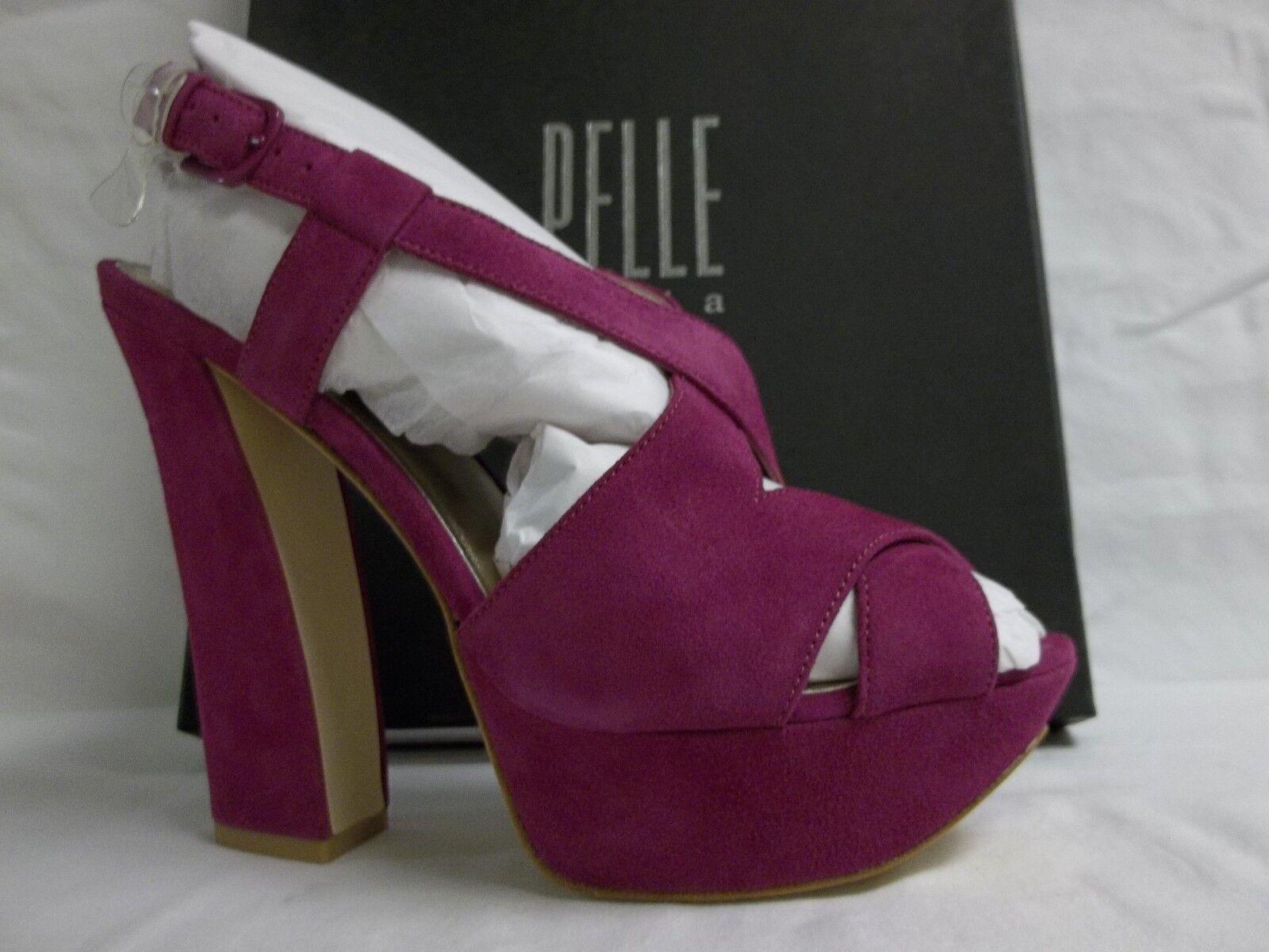 Pelle Moda Größe 8 M Billow Cerise Suede Open Toe Heels NEU Damenschuhe Schuhes