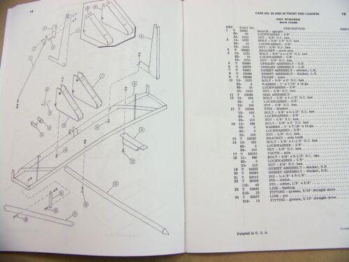 CASE MODEL 80 85 FRONT END LOADERS PARTS MANUAL CATALOG FORK LIFT GRAPPLE BALE