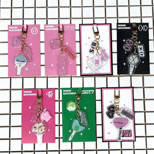Fashion-BLACKPINK-EXO-TWICE-Keychain-GOT7-IZONE-SEVENTEEN-Keyring-Pendant-Gift