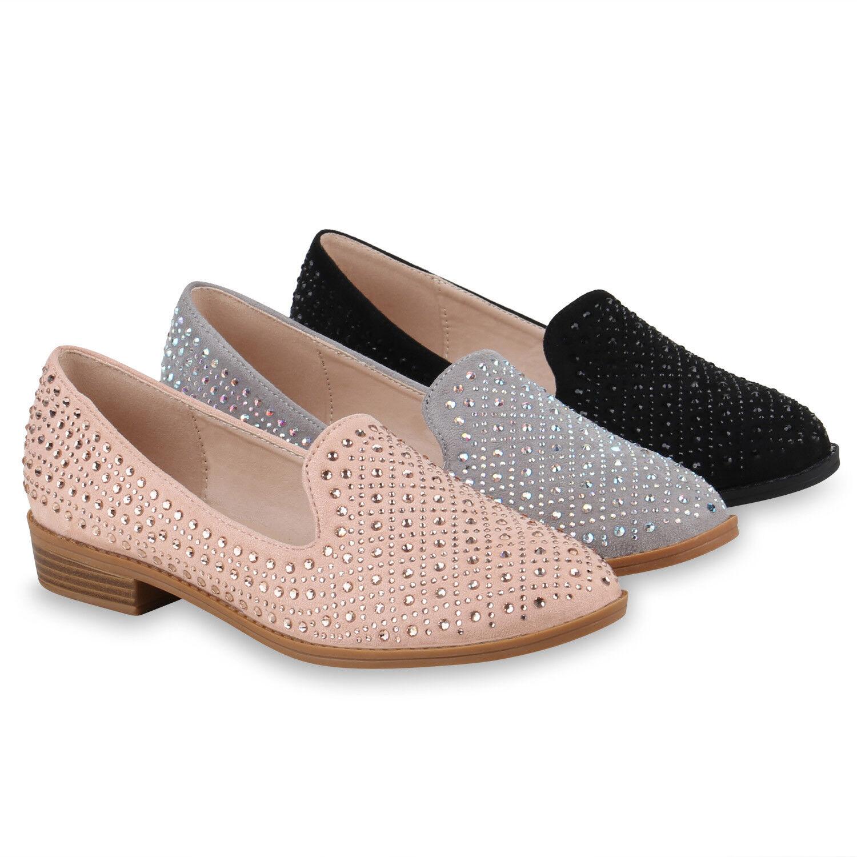 Damen Slippers Strass 820531 Loafers Stylische Freizeit Slip Ons 820531 Strass  Zapatos 0a31f4