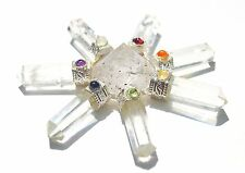 REIKI ENERGY CHARGED NATURAL CLEAR QUARTZ CRYSTAL ENERGY GENERATOR CHAKRA STONES