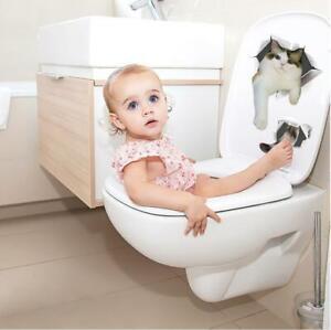 Vinyl-Decal-cute-3D-Cat-Bedroom-Toilet-Restroom-Refrigerator-Wall-Sticker-white