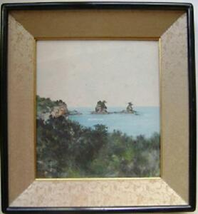 VINTAGE-JAPANESE-WATERCOLOR-PAINTING-ORIGINAL-FRAME-SIGNED-RARE-amp-BEAUTIFUL