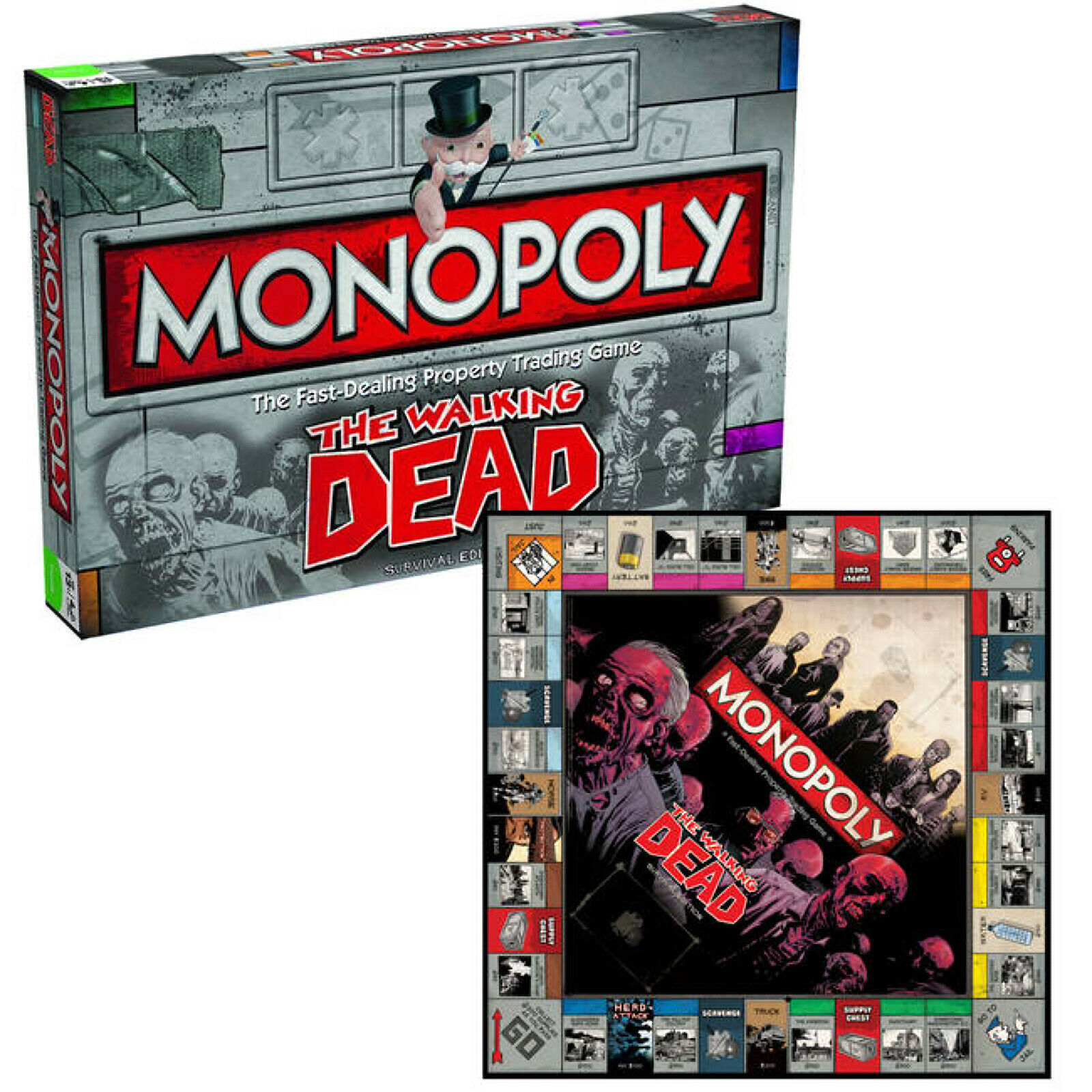 Monopoly Walking Dead súpervivencia Edición Juego de Mesa por Winning Moves