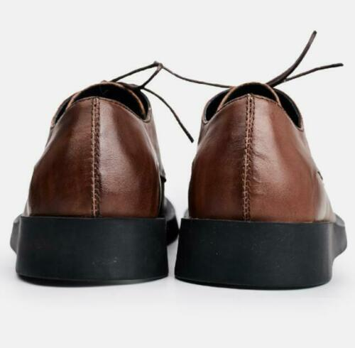 Retro Mens Real Leather Dress Formal Shoes Business Work Oxfords Lace up Party L