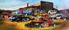 """Dale Klee """"Modified Memories"""" Race Car Print SN 28"""" x 14"""""""