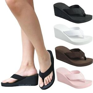 2c3d1303d94 New Women FCr62 Thong Wedge Platform Foam Flip Flop Sandals 5-10