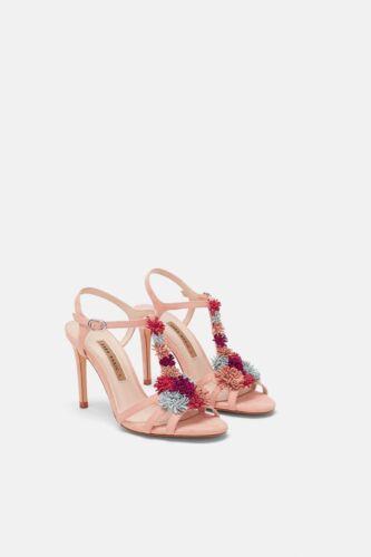 Alto 8 Sandali Zara Tacco Riqfwr5 Us Sie Con Floral doWCxrBe
