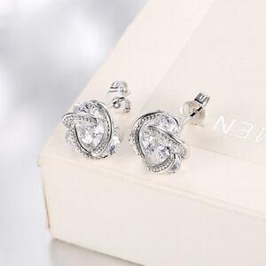 Image Is Loading Swarovski Elements Crystal Stud Earrings Hypoallergenic Surgical Steel