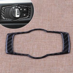 Carbon-Fiber-Front-Head-Light-Switch-Cover-Trim-Fit-for-BMW-E90-E92-E93-3-Series