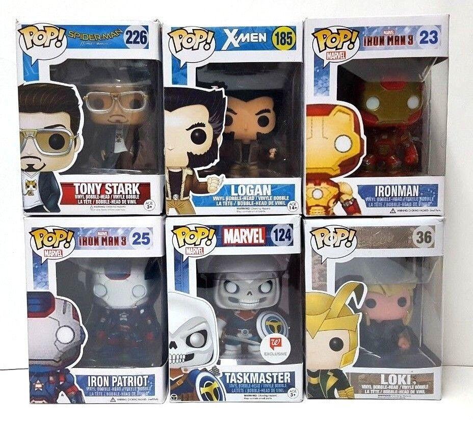 Funko Pop Marvel  Lot Iron Man Avengers Infinity War Endgame X-Hommes Figures RARE  70% de réduction