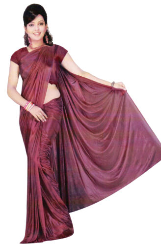 Trendofindia BORDEAUX Bollywood Sari Viscose