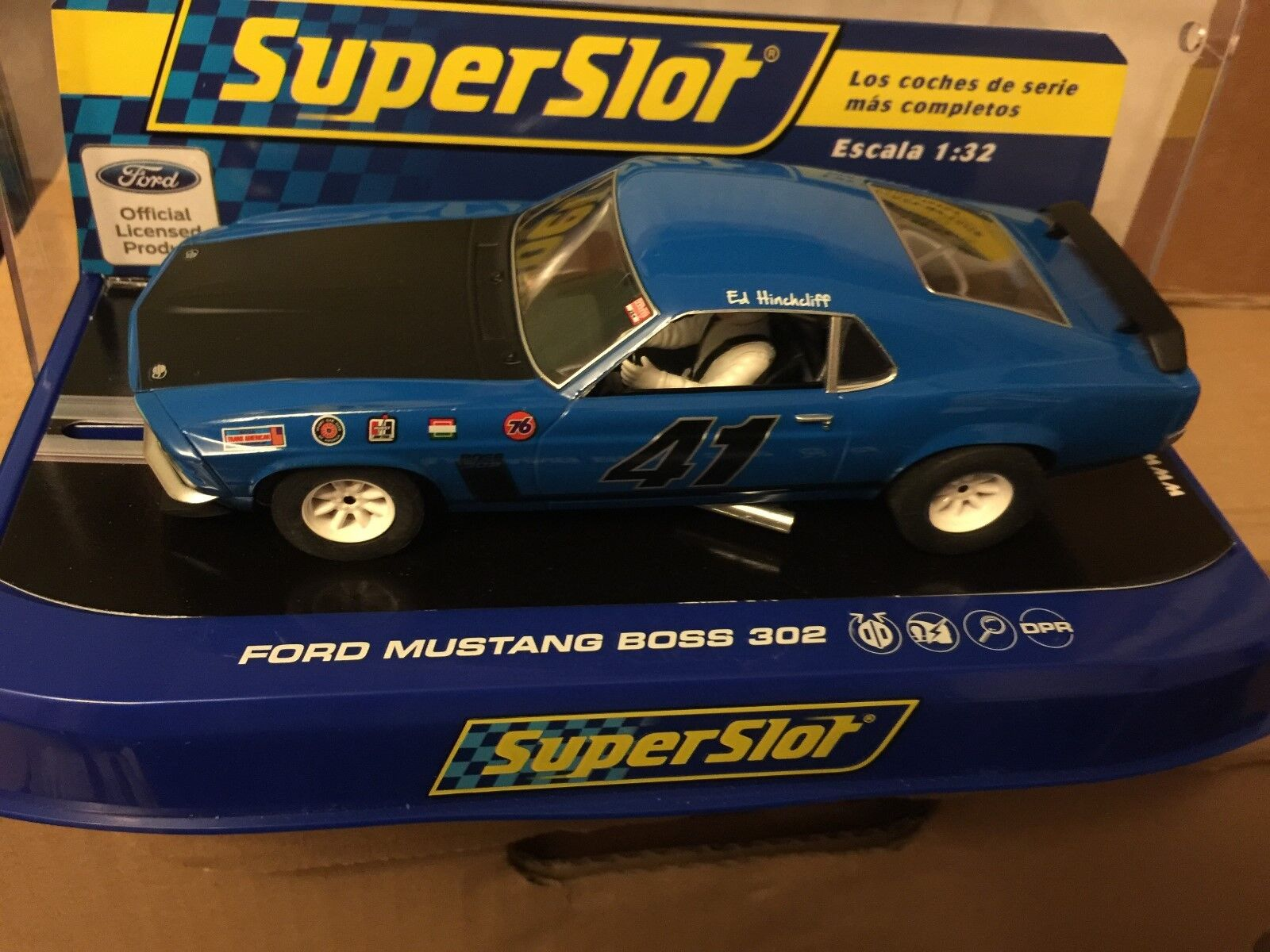 SCALEXTRIC C3613 FORD MUSTANG BOSS BOSS BOSS 302 1969 ED HINCHCLIFF MINT BOXED 70bd1f