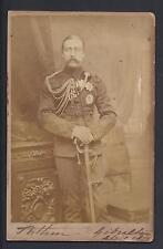 Signed Bassano Cabinet Photo Prince Arthur Duke Connaught Gibraltar 1879