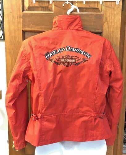 L en Rn 103819 Bien davidson® Nylon Harley Très Taille Orange Femmes Veste ~ wq66tv