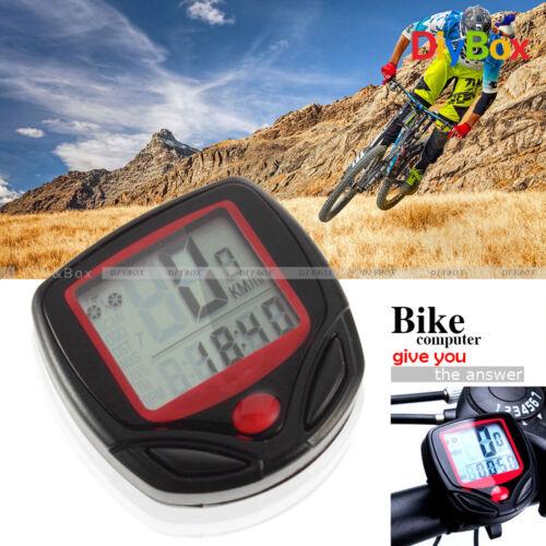 Bike Bicycle Cycling LCD Computer Speedometer Odometer Speed Waterproof Meter