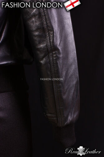 AVIATOR Bomber Leather Jacket Black Cool Short Pilot Classic Leather Jacket 6996