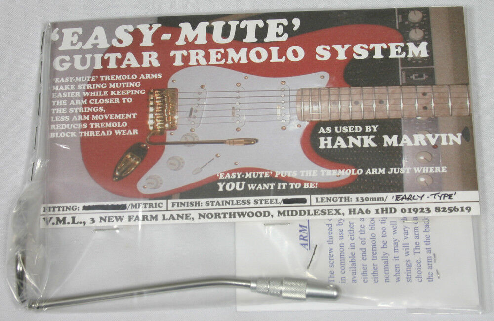NEW Easy Mute 130mm Stainless Steel METRIC thread As used By Hank B Marvin