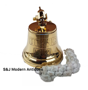 Antique-Brass-Wall-Bell-Titanic-Ship-039-s-School-Pub-Last-Orders-Dinner-Door-3-inch