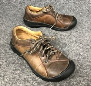 KEEN-Womens-Sz-7-Brown-Leather-Oxford-Lace-Up-Shoes