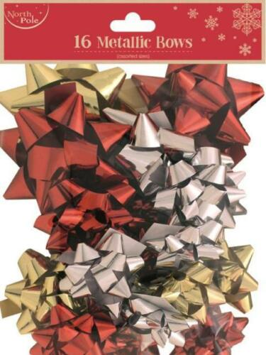 Christmas Gift Wrap Ribbons Bows Set Sequins,20x Gift Bows,Glittered Bows Decor