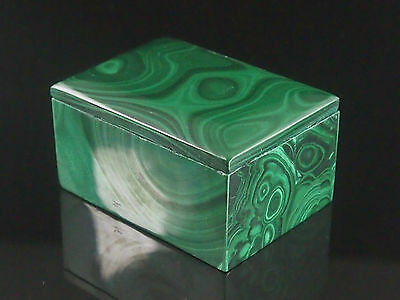 Premium Quality Small Malachite Jewellery Trinket Box.