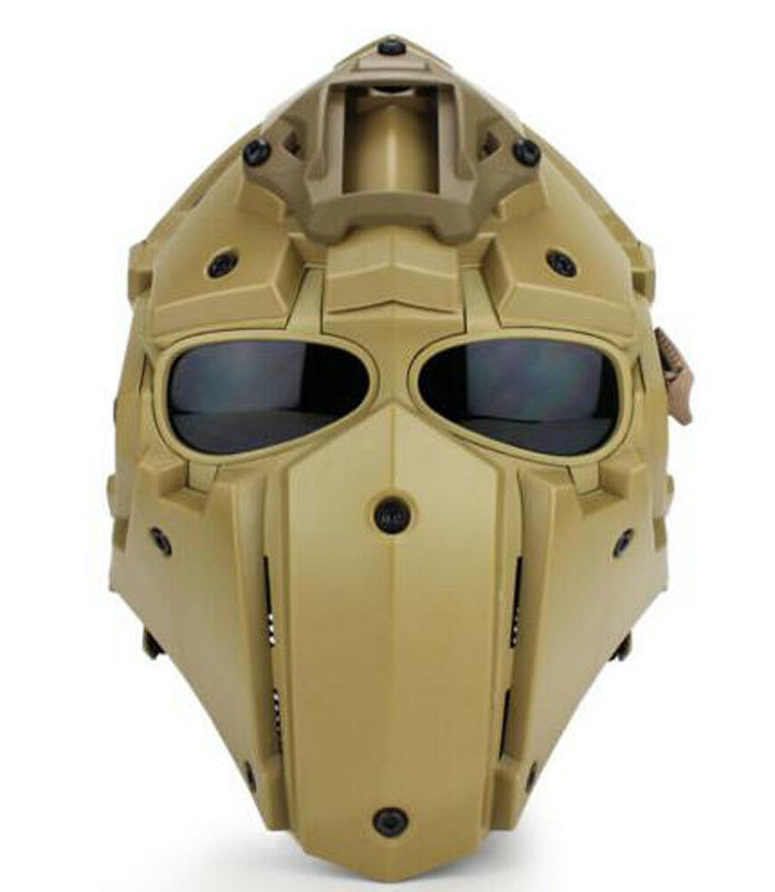 9 Farbes Helmet Full Gesicht Mask Airsoft Paintball CF Game Tactical Protective Hot