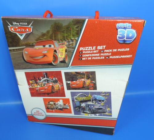 4 Verschiedene Puzzle Disney Cars Super 3 D  Puzzle Set