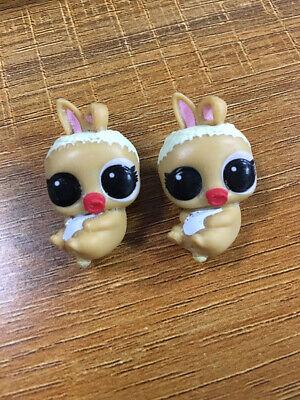 2 Original Lol Überraschung Puppe Haustiere Mc Ihr Hop Tiere Baby Dolls Bunny