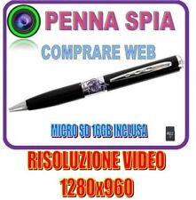 PENNA SPIA RISOLUZIONE VIDEO 1280x960 VIDEOCAMERA MICROSPIA FOTO E AUDIO SD16GB