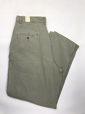 Polo Ralph Lauren Solid Mens 31X30 Button Chinos Pants Green 31