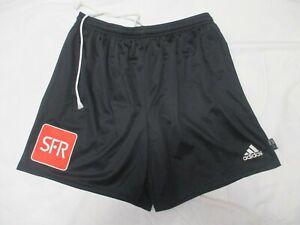 Détails sur Short porté COUPE DE FRANCE ADIDAS vintage noir SFR football collection XL