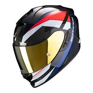 Scorpion Casco de moto EXO-1400 AIR Galaxy Matt Neon Red XS Negro//Rojo