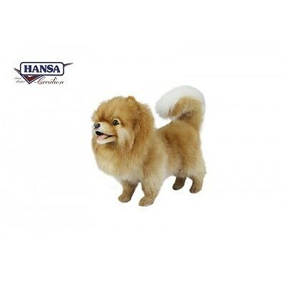 Hansa Toys Pomeranian Dog 7018 Plush Stuffed Animal Play Toy Gift Decor Prop New