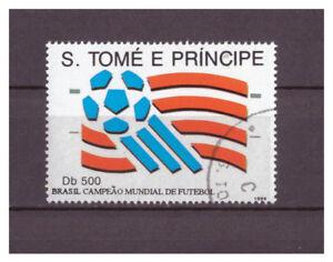 Sao-Tome-et-Principe-Bresil-Fusball-weltmeister-Minr-1463-1994-Used