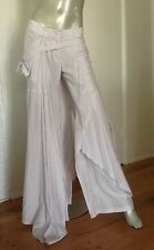 SHARON WAUCHOB Light Lavender Pant/Wrap Asymetrical FRANCE Size 38 US 6