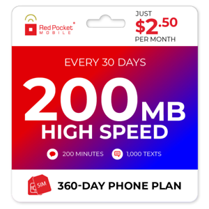 2-50-Mo-Red-Pocket-Prepaid-Plan-CDMAS-200-Talk-1000-Text-200MB