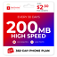 2-50-Mo-Red-Pocket-Prepaid-Plan-CDMAS-200-Talk-1000-Text-200MB thumbnail 1