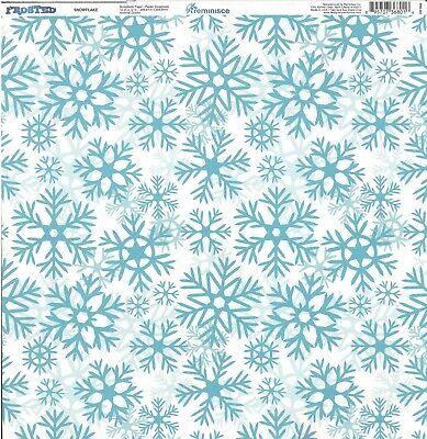 Rem Snowflake Scrapbooking Paper 12x12 Winter Snowflakes Snow Ski 895707368016 Ebay