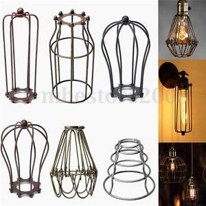 Vintage metal pendant trouble light bulb wire cage ceiling hanging image is loading vintage metal pendant trouble light bulb wire cage keyboard keysfo Images