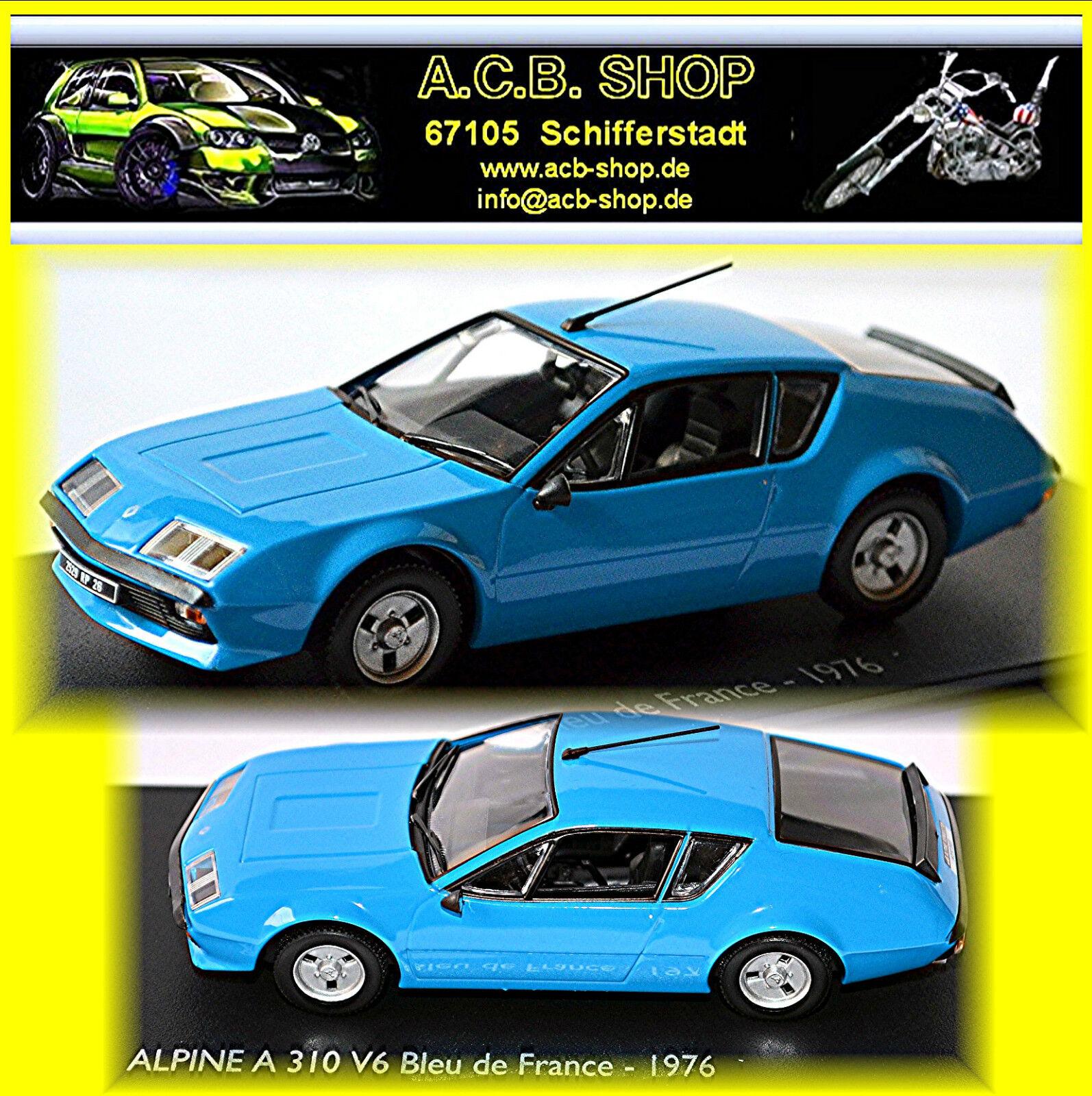 Renault Alpine 310 V6 blue blue blue de France 1976-84 bluee bluee 1 43 Norev-Eligor 1e4039
