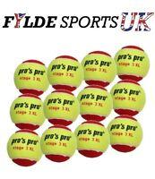 Pro's Pro Stage 3 XL Red Junior Tennis Balls x 12