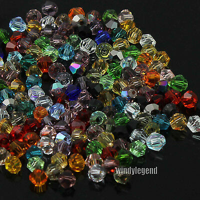 360Pcs/Lot Beautiful Glass Crystal Bicone Beads For Jewelry Making Handcraft 4mm